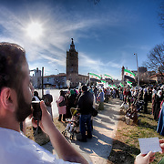 Protest in Kansas City, Missouri on Sunday, February 19, 2012 against the government of Syria led by Bashar Al-Assad.