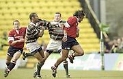 Watford. Great Britain. <br /> <br /> Heineken Cup Semi Final; Gloucester Rugby vs Leicester Tigers. Vicarage Road Stadium, Hertfordshire.England.  <br /> <br /> [Mandatory Credit, Peter Spurrier/ Intersport Images].