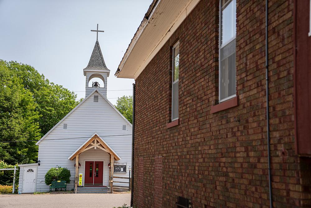 St. Mary's Catholic Church in Big Bay, Michigan.