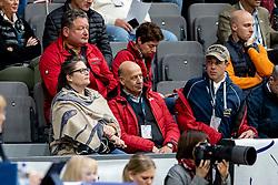 KOENLE Marc (Mannschaftstierarzt), THEODORESCU Monica (Bundestrainer Dressur GER), KELLER Flora (Pferdebesitzer), HILBERATH Jonny (Co Bundestrainer Dressur GER), WERNDL Benjamin (GER)<br /> LONGINES FEI World Cup™ Finals Gothenburg 2019<br /> © Hippo Foto - Stefan Lafrentz<br /> 05/04/2019