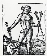 Planetary figure of Jupiter. From 'Sphaera mundi', Strasburg, 1539.