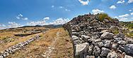 walls of Royal castle palace, Hattusa (also Ḫattuša or Hattusas) late Anatolian Bronze Age capital of the Hittite Empire. Hittite archaeological site and ruins, Boğazkale, Turkey.