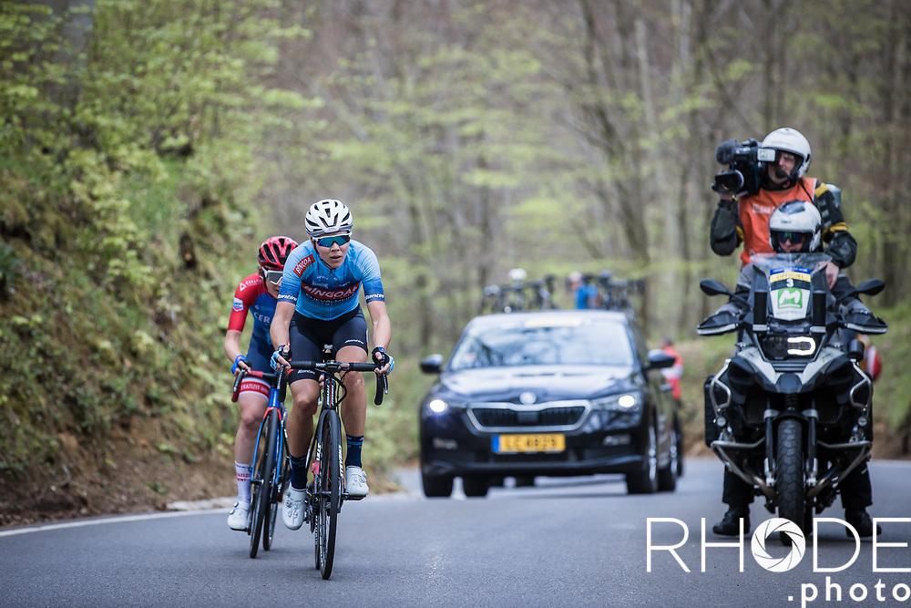 Thalita De Jongh (NED/Bingoal Casino - Chevalmeire Cycling), Kathrin Hammes (GER/Ceratizit-WNT)<br /> <br /> Ceratizit Festival Elsy Jacobs (LUX) 2021<br /> UCI Women Elite 2.1<br /> Day 2 – stage : Steinfort >Steinfort 125.1km  <br /> <br /> ©RhodePhoto