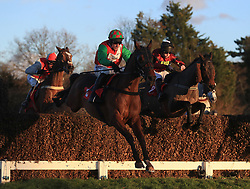 Workbench ridden by Harry Skelton wins the Tokio Marine Kiln Handicap Steeple Chase during day one of the Betfair Tingle Creek Christmas Festival at Sandown Park Racecourse.