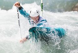 Luka Bozic of Slovenia competes in Canoe Single (C1) Men during International Slalom Kayak-Canoe competition, on May 6, 2018 in Tacen, Ljubljana, Slovenia. Photo by Vid Ponikvar / Sportida