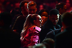 Perrie Edwards reacts as Little Mix win Best Video at the Brit Awards 2019 at the O2 Arena, London. PRESS ASSOCIATION PHOTO. Picture date: Wednesday February 20, 2019. See PA story SHOWBIZ Brits. Photo credit should read: Victoria Jones/PA Wire. EDITORIAL USE ONLY.