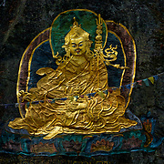 """Guru Rinpoche was an 8th-century Buddhist master from the Indian subcontinent. A number of legends have grown around Padmasambhava's life and deeds, and he is widely venerated as a """"second Buddha"""" by adherents of Tibetan Buddhism in Tibet, Nepal, Bhutan, the Himalayan states of India, and elsewhere."""