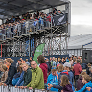 NZ Flag hangs from the main grandstand <br /> <br /> Compete in the A Finals at FISA World Rowing Cup III on Sunday 14 July 2019 at the Willem Alexander Baan,  Zevenhuizen, Rotterdam, Netherlands. © Copyright photo Steve McArthur / www.photosport.nz