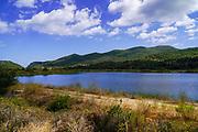 Lake landscape On the Greek Island of Cephalonia, Ionian Sea, Greece