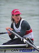 Lucerne, SWITZERLAND,  Women's single, CAN W1X, Marnie McBEAN.  2000 FISA World Cup, Rotsee Rowing Course, June 2000.  [Mandatory Credit, Peter Spurrier/Intersport-images] 2000 FISA World Cup, Lucerne, SWITZERLAND