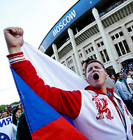 russian fans celebrate after the match<br /> Moscow 13-06-2018 Football FIFA World Cup Russia  2018 <br /> Foto Matteo Ciambelli/Insidefoto