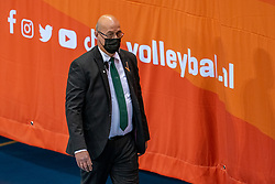 Security during the CEV Eurovolley 2021 Qualifiers between Croatia and Netherlands at Topsporthall Omnisport on May 16, 2021 in Apeldoorn, Netherlands