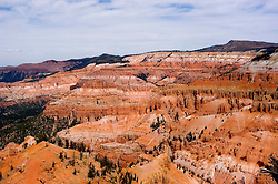 Cedar Breaks National Monument, Utah, UT, view, vista from Point Supreme, nature, landscape, erosion, arid, Image ut305-18850, Photo copyright: Lee Foster, www.fostertravel.com, lee@fostertravel.com, 510-549-2202