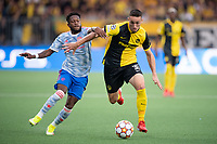 BERN, SWITZERLAND - SEPTEMBER 14: Silvan Hefti of BSC Young Boys and Fred of Manchester United during the UEFA Champions League group F match between BSC Young Boys and Manchester United at Stadion Wankdorf on September 14, 2021 in Bern, Switzerland. (Photo by FreshFocus/MB Media)