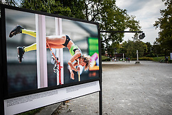 Photo of Tina Sutej at IAAF World Championships Athletics in Beijing, China during Opening ceremony of photo exhibition at 100 years Anniversary of Slovenian Athletic Federation, on September 17, 2020 in Tivoli park, Jakopicevo sprehajalisce, Ljubljana, Slovenia. Photo by Vid Ponikvar / Sportida
