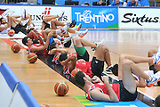 DESCRIZIONE : Trento Primo Trentino Basket Cup Nazionale Italia Maschile <br /> GIOCATORE : team<br /> CATEGORIA : allenamento<br /> SQUADRA : Nazionale Italia <br /> EVENTO :  Trento Primo Trentino Basket Cup<br /> GARA : Allenamento<br /> DATA : 27/07/2012 <br /> SPORT : Pallacanestro<br /> AUTORE : Agenzia Ciamillo-Castoria/M.Gregolin<br /> Galleria : FIP Nazionali 2012<br /> Fotonotizia : Trento Primo Trentino Basket Cup Nazionale Italia Maschile<br /> Predefinita :