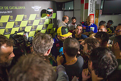 June 8, 2017 - Barcelona, Spain - MotoGP, Valentino Rossi(Ita), Movistar Yamaha Motogp Team during the press conference of MotoGp Grand Prix Monster Energy of Catalunya, in Barcelona-Catalunya Circuit, Barcelona on 8th June 2017 in Barcelona, Spain. (Credit Image: © Urbanandsport/NurPhoto via ZUMA Press)