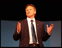 Grant Shapps speaking at  the Conservative Party Conference in Birmingham, Sunday,  October 7th 2012. Photo by: Stephen Lock / i-Images