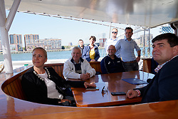 "12-09-2019 NED: Kick-off European Volleyball Men's Championship, Rotterdam<br /> Kick-off for the European Volleyball Men's Championship at the Sailing Ship ""Eendracht"" with The CEV board, municipal officials of the playing cities, Nevobo and Topsport Rotterdam /"