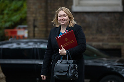 © Licensed to London News Pictures. 06/11/2018. London, UK. Secretary of State for Northern Ireland Karen Bradley arriving in Downing Street to attend a Cabinet meeting this morning. Photo credit : Tom Nicholson/LNP