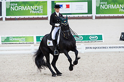 Chere Burger, (RSA), Adelprag Anders 451 - Grand Prix Team Competition Dressage - Alltech FEI World Equestrian Games™ 2014 - Normandy, France.<br /> © Hippo Foto Team - Leanjo de Koster<br /> 25/06/14