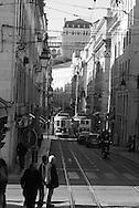 Portugal. Lisbon. Baixa district./  Lisbonne le quartier de Baixa