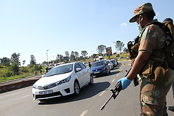 South Africa - Durban - 07 May 2020 - KwaZulu Natal police Commissioner Khombinkosi Jula lead a string of roadblocks in and around Pietermaritzburg making sure people comply to the lockdown regulations<br /> Picture: Doctor Ngcobo/African News Agency(ANA)