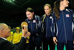 29-08-2010 VOLLEYBAL: WGP FINAL AWARDING CEREMONY: BEILUN NINGBO<br /> The World Grand Prix Award 2010 for USA<br /> ©2010-WWW.FOTOHOOGENDOORN.NL