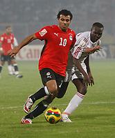 Photo: Steve Bond/Richard Lane Photography.<br />Egypt v Sudan. Africa Cup of Nations. 26/01/2008. Ibrahim Ebad Mohamed heads for goal