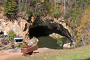 The old emerald mining shaft of Emerald Village, North Carolina.