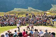 Übersichtsfoto von das Schwingfest am Melchsee-Frutt