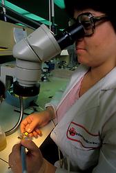 Stock photo of research using a binocular scope