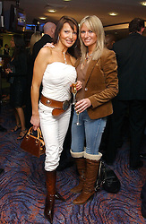 Left to right, LIZZIE CUNDY and ALEX BEST at a sales event for the exclusive Chelsea Bridge Wharf in aid of CLIC Sargeant cancer charity held at Stamford Bridge football stadium, Chelsea, London on 7th February 2006.<br /><br />NON EXCLUSIVE - WORLD RIGHTS