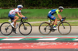 KNOX James of Great Britain, POLANC Jan of Slovenia compete during Men Elite Road Race at UCI Road World Championship 2020, on September 27, 2020 in Imola, Italy. Photo by Vid Ponikvar / Sportida