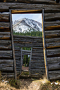 Historic late-1800s log cabin. Independence has been a ghost town since about 1899, when trains came into Aspen and the gold played out. Supposedly founded on Independence Day July 4, 1879 when gold was discovered, Independence was the first community in the Roaring Fork River Valley, a tributary of the Colorado River. Independence lies in a harsh environment at 10,830 feet elevation, 13.5 miles east of Aspen on Highway 82, and four miles west of Independence Pass on the Continental Divide, in Pitkin County, Colorado, USA. The remaining buildings are on land near the river owned by the Loughren Trust, and the upper site is in White River National Forest. In its short life, few could agree on a name for Independence, which was also known as Farwell, Chipeta City, Sparkill, Mammoth Mountain, Mount Hope, and Hunter's Pass.