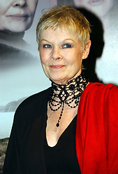 Actress, Dame Judi Dench arrives for a press reception at the Met Bar in London ahead of the premiere of her new film 'The Shipping News' at the Curzon in Mayfair.