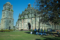 Paoay Church, also known as St. Augustine Church, is a historical church located in the town of Paoay in Ilocos Norte, Philippines..Construction of the church was started by Augustinian friars in 1694.  A three storey coral stone belltower stands next to the church which served as an observation post in 1896 for the during the Philippine revolution against the Spanish.  Known as an earthquake baroque church it was built of bricks, tree sap and wood.