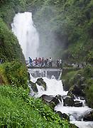 The Protected Forest of Peguche Waterfall (Bosque Protector Cascada de Peguche), near Otavalo, Ecuador