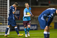GOAL 0-4 Gary Mackay-Steven (#17) of Heart of Midlothian FC grabs the ball after he scores Hearts fourth goal during the SPFL Championship match between Raith Rovers and Heart of Midlothian at Stark's Park, Kirkcaldy, Scotland on 30 April 2021.