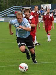 FODBOLD: Anders Henriksen (Helsingør) under kampen i Danmarksserien, pulje 1, mellem Elite 3000 Helsingør og Allerød FK den 7. september 2008 på Helsingør Stadion. Foto: Claus Birch