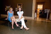 HELENE KLAUSNER;  DEDE JOHNSTON, Tate Summer Party. Celebrating the opening of the  Fiona Banner. Harrier and Jaguar. Tate Britain. Annual Duveens Commission 29 June 2010. -DO NOT ARCHIVE-© Copyright Photograph by Dafydd Jones. 248 Clapham Rd. London SW9 0PZ. Tel 0207 820 0771. www.dafjones.com.