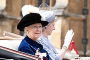 """Koning Willem Alexander wordt door Hare Majesteit Koningin Elizabeth II geïnstalleerd in de 'Most Noble Order of the Garter'. Tijdens een jaarlijkse ceremonie in St. Georgekapel, Windsor Castle, wordt hij geïnstalleerd als 'Supernumerary Knight of the Garter'.<br /> <br /> King Willem Alexander is installed by Her Majesty Queen Elizabeth II in the """"Most Noble Order of the Garter"""". During an annual ceremony in St. George's Chapel, Windsor Castle, he is installed as """"Supernumerary Knight of the Garter"""".<br /> <br /> Op de foto / On the photo: Princess Alexandra of the United Kingdom"""