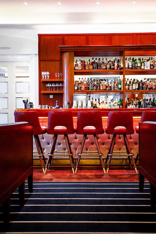 The bar at Lure Fishbar in the Loews Miami Beach Hotel