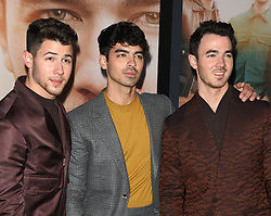 """World premiere of the Jonas Brothers """"Chasing Happiness"""" held at the Regency Bruin Theatre on June 3, 2019 in Westwood, Ca. © Majil / AFF-USA.com. 03 Jun 2019 Pictured: Nick Jonas, Joe Jonas and Kevin Jonas. Photo credit: Majil / AFF-USA.com / MEGA TheMegaAgency.com +1 888 505 6342"""
