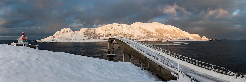 The island Runde, Norway in beatiful winter light   Øyen Runde i nydelig vinterlys.