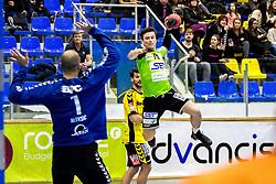 23.02.2018, BSFZ Suedstadt, Maria Enzersdorf, AUT, HLA, SG INSIGNIS Handball WESTWIEN vs Bregenz Handball, Bonus-Runde, 3. Runde, im Bild Felix Fuchs (SG INSIGNIS Handball WESTWIEN) // during Handball League Austria, Bonus-Runde, 3 rd round match between SG INSIGNIS Handball WESTWIEN and Bregenz Handball at the BSFZ Suedstadt, Maria Enzersdorf, Austria on 2018/02/23, EXPA Pictures © 2018, PhotoCredit: EXPA/ Sebastian Pucher