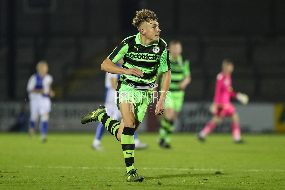 Forest Green Rovers Jay Malshanskyj(7) runs forward during the The FA Youth Cup match between Bristol Rovers and Forest Green Rovers at the Memorial Stadium, Bristol, England on 2 November 2017. Photo by Shane Healey.