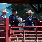 John Smith getting ready at the Darby MT Elite Proffesionals Bull Riding Event July 7th 2017.  Photo by Josh Homer/Burning Ember Photography.  Photo credit must be given on all uses.