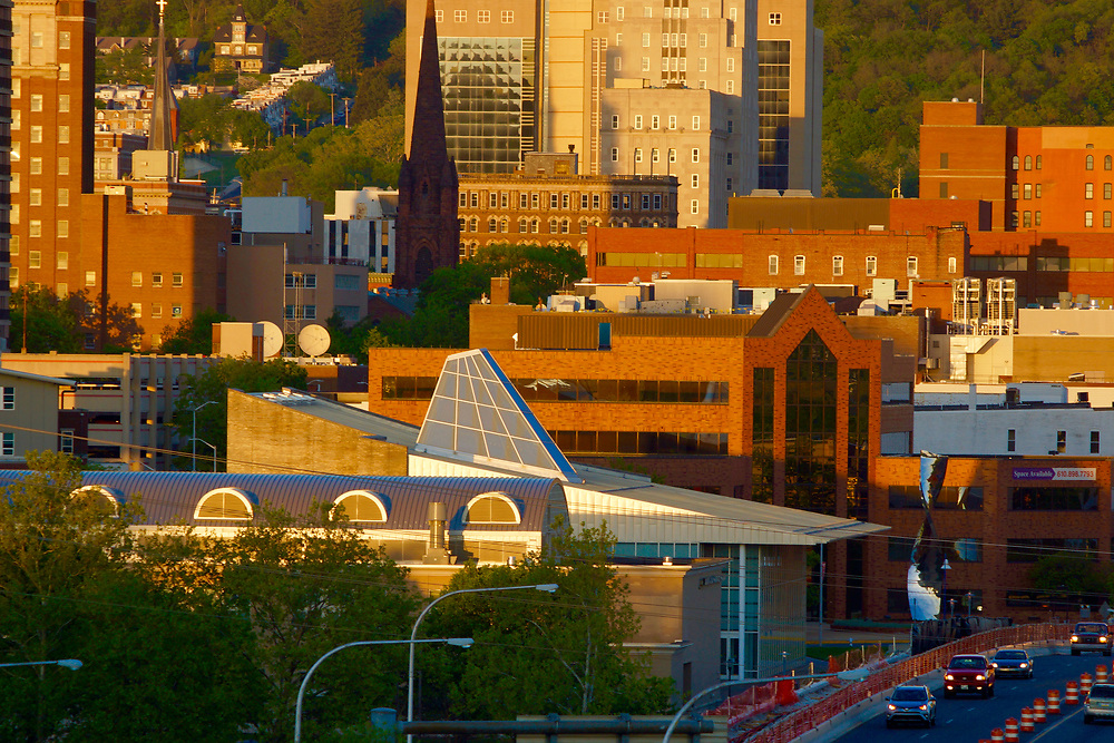 Skyline, Reading, PA including Miller Center for the Arts, RAAC, and Christ Episcopal Church