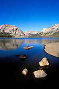 Tenaya Lake and the Tuolumne Domes, Tuolumne Meadows area, Yosemite National Park, California